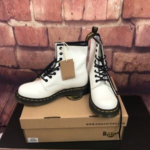 New Dr. Martens Women's 1460 Boot In White